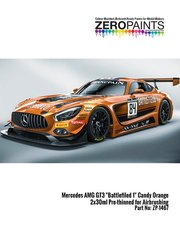Zero Paints: Set de pinturas - Naranja perlado Mercedes Benz AMG GT3 candy orange - 2 x 30ml Battlefield 1 - para la referencia de Tamiya TAM24345