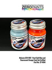 Zero Paints: Paints set - 1997 Gulf liveried McLaren F1 GTR Paint Set - for Aoshima reference AOSH-007471, or Fujimi references FJ12581 and FJ12595, or Model Factory Hiro reference MFH-K376, or Renaissance Models reference 041, or Tabu Design reference TABU24061