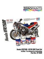 Zero Paints: Set de pinturas - Honda VFR750R RC30 - 4 x 30ml - para las referencias de Tamiya TAM14057 y 14057