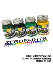 Zero Paints: Paints set - Lotus Ford Type 102D - for Tamiya reference TAM20033