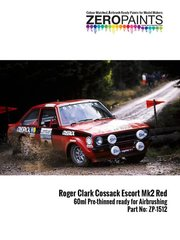 Zero Paints: Pintura - Rojo Roger Clark Cossack Ford Escort Mk II Red - 60 ml - para la referencia de Decalcas DCL-DEC008