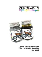 Zero Paints: Paints set - Honda CB750 Four Candy Orange - 2 x 30ml - for Tamiya references TAM16001 and 16001, or Zero Paints reference ZP-1532