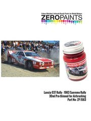 Zero Paints: Paint - Lancia 037 Rally 1983 Sanremo Rally red - 1 x 30ml - for Hasegawa reference 20299