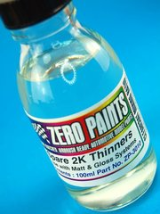 Zero Paints: Thinner - SPARE 2 Pack THINNERS - 1 x 60ml - for Airbrush