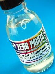 Zero Paints: Disolvente - Disolvente de repuesto para laca 2 Pack - SPARE 2 Pack THINNERS - 1 x 60ml - para Aerógrafo