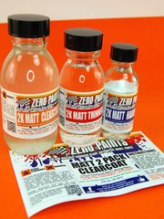 Zero Paints: Clearcoat - MATT/ FLAT 2 Pack Clearcoat 100ml (Urethane)  FULL PACK - for Airbrush