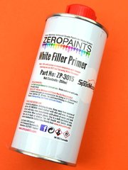 Primer by Zero Paints - White Primer Micro Filler - 250ml for Airbrush