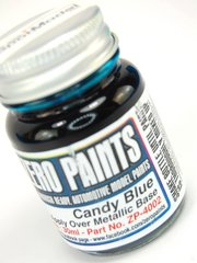 Zero Paints: Pintura - Azul candy - Candy Blue Paint - 1 x 30ml - para Aerógrafo