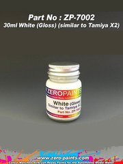 Zero Paints: Paint - White - Similar to Tamiya X-2 - 1 x 30ml - for airbrush