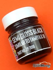 Zero Paints: Paint - Semi Gloss Black - Similar to Tamiya X-18 - 30ml - for airbrush