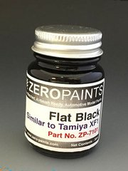 Zero Paints: Paint - Flat black - Similar to Tamiya XF-1 - 1 x 30ml - for airbrush