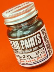 Zero Paints: Pintura - Gris metalizado - Metallic Grey - Similar a XF-56 - 1 x 30ml - para Aerógrafo