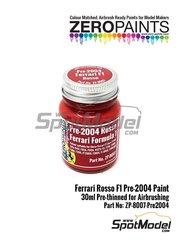 Zero Paints: Pintura - Rojo Ferrari F1 pre-2004 - Ferrari Rosso Formula1 Pre-2004 - 1 x 30ml