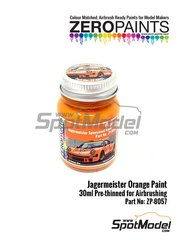 Zero Paints: Pintura - Naranja Jagermeister Orange - 1 x 30ml