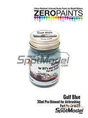 Zero Paints: Pintura - Azul Gulf Blue - 1 x 30ml