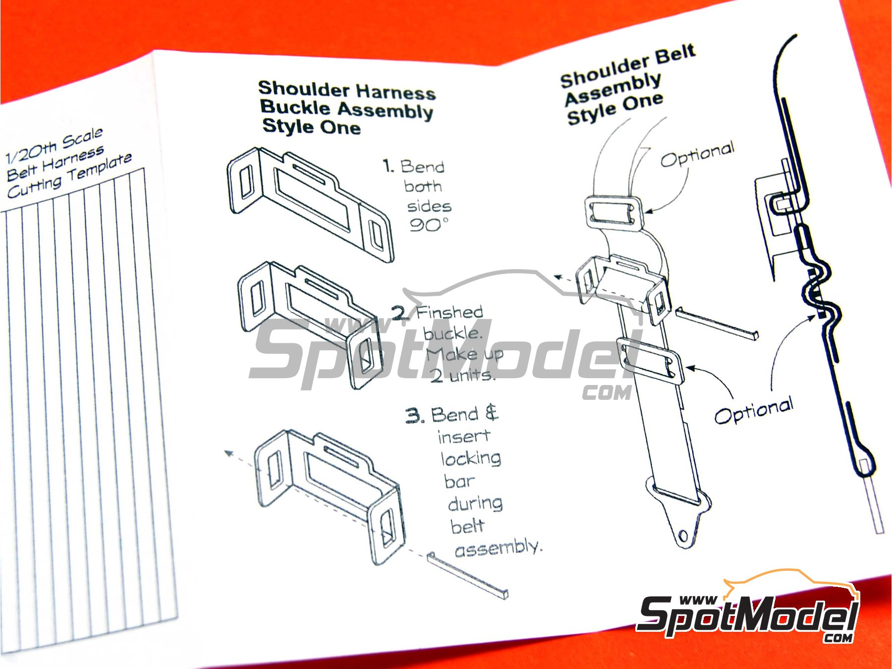 Image 3: Seat Belt Hardware | Seatbelts in 1/24 scale manufactured by Scale Motorsport (ref. SM8124, also 8124)