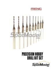 Meng Model: Drill bit - Precision hobby drill bit set - 10 units