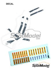 Reji Model: Decals 1/24 scale - OMP, Sabelt, Britax, TRS logos - water slide decals and assembly instructions
