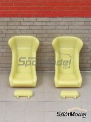 Scale Production: Seat 1/24 scale - Seats Classic Singer Style - resin parts - 2 units image