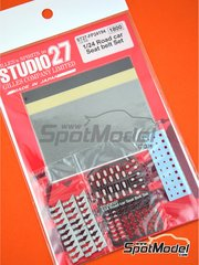 Studio27: Seatbelts 1/24 scale - Road car seatbelt set - metal parts, photo-etched parts, seatbelt fabric, water slide decals and assembly instructions