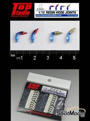 Top Studio: Hose joints 1/12 scale - Hose joints 2.5mm - resin parts