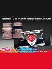 Zero Paints: Paints set - Toleman TG184 Candy white and blue paint - 2 x 30ml image