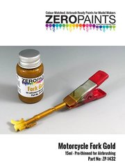 Zero Paints: Paint - Motorcycle fork gold - 1 x 30ml