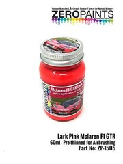 Zero Paints: Paint - Lark Pink McLaren F1 - 1 x 60ml - for Aoshima reference AOSH-007518, or Fujimi reference FJ12579, or Renaissance Models reference 041C image
