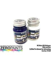 Zero Paints: Paints set - MG Metro 6R4 Computervision white and blue - 2 x 30ml - for Belkits references BEL015 and BEL-015, or Profil24 reference P24040