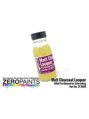 Zero Paints: Clearcoat - Matt Clearcoat Lacquer Pre-Thinned for Airbrushing - 1 x 60ml